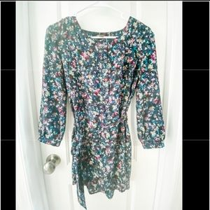 Anthropologie floral tunic blouse
